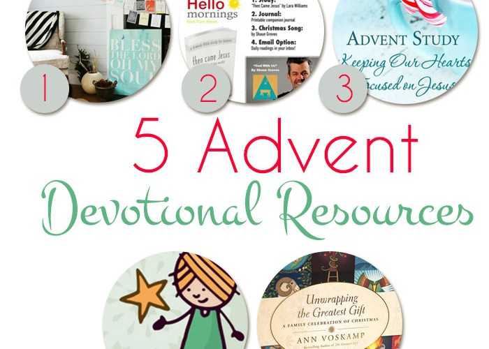 Five Advent Devotional Resources and a Giveaway