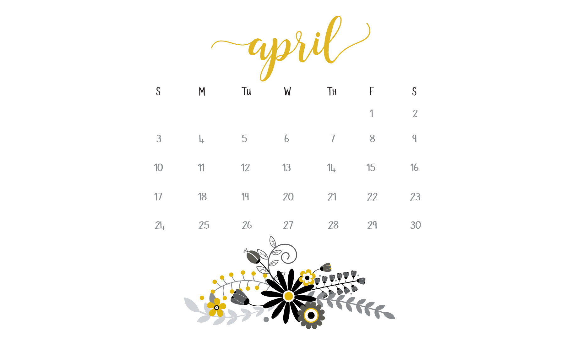 April 2016 Calendar Printables and Freebies